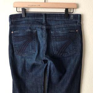 7FAM Dojo Flare Wide Leg Jeans Mid Rise 28